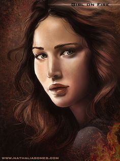 ArtStation - Girl on fire, Nathalia Gomes