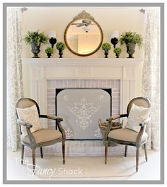 How to Stage a Fireplace When Its Summertime | DIY Home Staging Tips