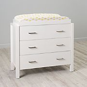 Uptown 3-Drawer White Changing Table