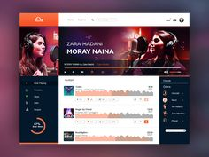 music related site design found on Dribbble.