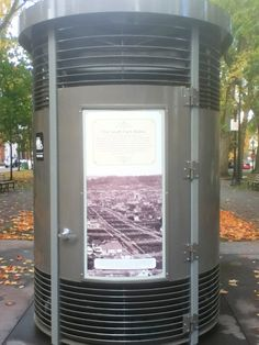 """""""Portland Loo"""" public toilet installed in a few local parks! Photo by Bentnwasted"""