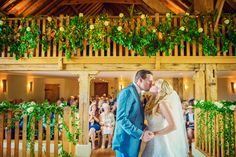 Beautiful #wedding at The Barn at Bury Court. #Bride and #groom. #Weddingceremony