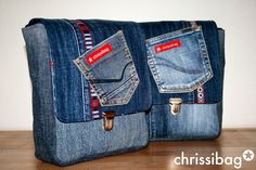 Taschen aus alten Jeans / Bags made from old pairs of jeans / Upcycling
