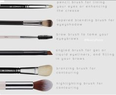 Types of brushes pt 2