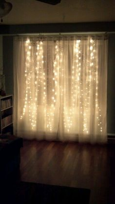 35 Dreamy Curtain Fairy Lights Design Ideas For Winter This Year - Lets start right at the beginning: Step ladders: Make sure you have a steady pair of steps not to short so you over reach. Your arms will drop of befo. Winter Wonderland Ball, Winter Wonderland Decorations, Winter Wonderland Birthday, Christmas Lights, Christmas Decorations, Holiday Decor, Curtain Lights, Backdrop Lights, Frozen Bedroom
