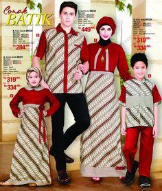 Baju Muslim Batik Set Keluarga by Mirzani