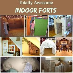 My kids love to build indoor forts - who doesn't? These amazing fort inspirations are going to help us through a possibly long, cold winter! While I can wait for the cold weather - I am kinda excited to try some of these out! Kids Fort Indoor, Indoor Forts, Kids Indoor Playhouse, Build A Playhouse, Indoor Games, Indoor Playground, Cool Forts, Awesome Forts, Tutu