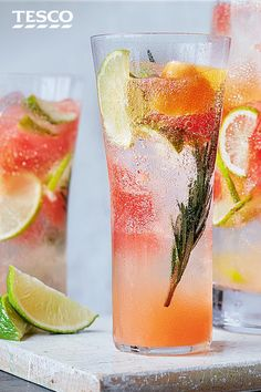Water Recipes, New Recipes, Rosemary Water, Tesco Real Food, Hotel Trivago, Soft Drink, Fresh Fruit, Grapefruit, Plant Based
