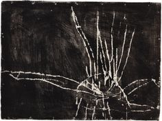Cy Twombly, Untiled, 1953, Monotype in paint, 48 x 64 cm