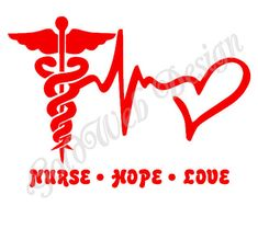 Nurse Hope Love Car Vinyl Decal by GoldWebDesign on Etsy