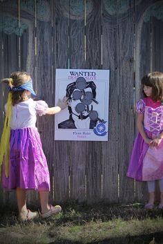 "Party Activity : ""Pin the Pan on Flynn's nose""!"