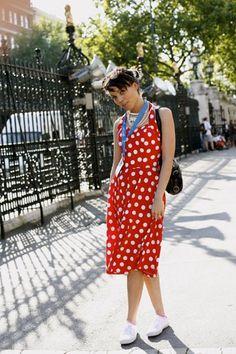 On the Street…….Red dot dress, London « The Sartorialist