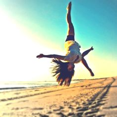 aerials <3 I wish I could do them . lol I can only do one hand cartwheels .