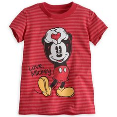 Mickey Mouse Striped Tee for Girls