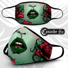 Poison Ivy Face Mask · CanacheShop · Online Store Powered by Storenvy Tapas, Women Villains, Comic Face, Babe, Halloween Masks, Halloween H20, Poison Ivy, Fashion Face Mask, Dc Comics