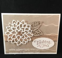 STAMPIN/'UP+ EMBOSSED CARD FRONT TWISTING VINES 4 PHOTO MAT OR BACKGROUND.