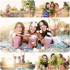 cute senior girls group ideas