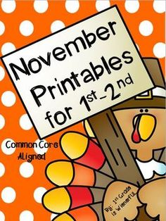 Freebies in the download preview!!!  November Printables for 1st-2nd Grade!!!!