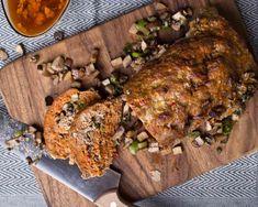 Hackbraten mit Champignons aus LCHF pur Kochbuch Lchf, Zucchini, Pork, Turkey, Meat, Roast Meat Recipe, Kochen, Kale Stir Fry, Turkey Country