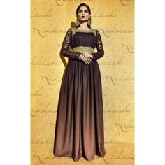 Chocolate Brown Wedding Wear Santoon Salwar Kameez