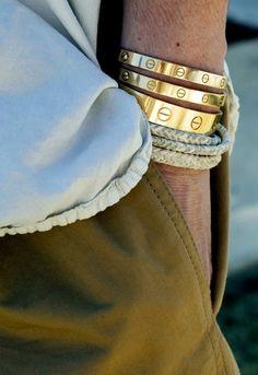 Cartier. Love... literally. Love bracelets