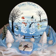pottery homemade gifts- idea for next yr. footprint xmas plate