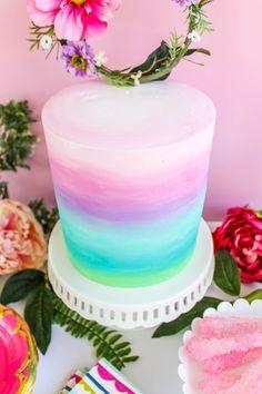 Cake Designs For Girl, Fake Cake, Birthday Cake Girls, Birthday Cakes, Ombre Cake, Un Cake, Colorful Cakes, Drip Cakes, Savoury Cake