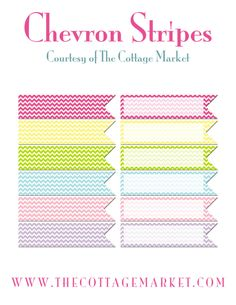 free chevron stripe ribbons from The Cottage Market - thanks Andrea, you make such pretty things!
