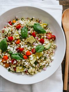 Summer Corn and Barley Salad | http://www.kitchenconfidante.com/?utm_campaign=coschedule&utm_source=pinterest&utm_medium=Liren%20Baker%20%7C%20Kitchen%20Confidante%20(Bloggers%20Inspiring%20Us)&utm_content=Simple%20Sundays%20%7C%20Summer%20Corn%20and%20Barley%20Salad  Embrace summer to the fullest with this wholesome and flavorful salad! The barley makes it rich in fiber, rounded out by summer's sweet corn, tomatoes, avocado and fresh basil. It makes a great side to any summer BBQ.