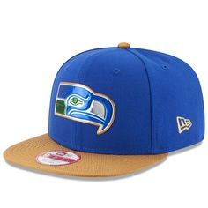 098db7970382a Men s New Era College Navy Gold Seattle Seahawks Gold Collection Classic  Original Fit 9FIFTY Snapback Adjustable Hat