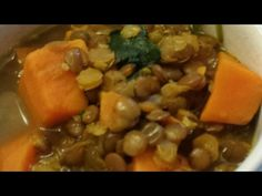 Easy Indian Sweet Potato and Lentil Soup Recipe