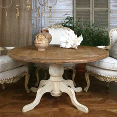 Vintage Round Breakfast Table