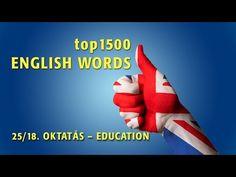 top1500 ANGOL SZÓ - 25/18. ISKOLA, OKTATÁS 1. - YouTube English Words, Learn English, Make It Yourself, Education, Youtube, Link, Learning English, Teaching, Educational Illustrations
