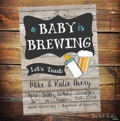 Personalized coaster baby is brewing coed baby shower invitation baby is brewing coed baby shower invitation beer baby shower invitation couples baby shower girl baby shower boy baby shower bbq filmwisefo Gallery