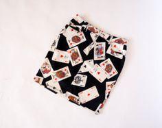 Moschino Jeans vintage pocker cards print jeans cotton skirt medium size - Edit…