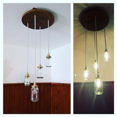 Schöne selbstgemachte Lampe