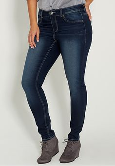 denim flex � supersoft plus size jegging in dark wash (original price, $39) available at #Maurices