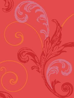 Large patterned contemporary swirl red Wallpaper