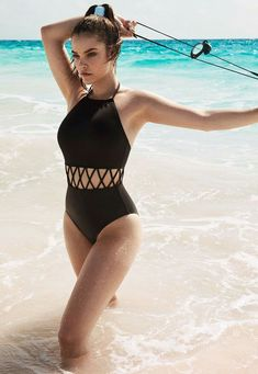 Barbara Palvin, Hungarian model for Swim Team Barbara One Piece Women's Plus Size Swimwear, Trendy Swimwear, One Piece Swimwear, Swimwear Fashion, Bikini Fashion, Tumblr Swimwear, 1 Piece Swimsuit, Summer Bathing Suits, Cute Bathing Suits