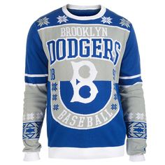 Brooklyn Dodgers Cotton Retro Sweater from UglyTeams