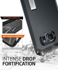Spigen Tough Armor Case Samsung Galaxy S6 Edge Metal Slate