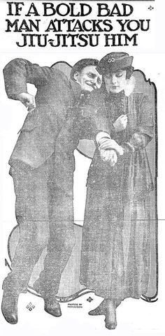 """Sound advice. A selection of classic jiujitsu """"tricks"""" as women's self-defence in this photo-feature from the Chicago Tribune of June 20, 1915."""