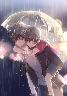 Kaito x Conan Anime Siblings, Anime Child, Anime Couples Manga, Cute Anime Couples, Anime Kunst, Anime Art, Kawaii Anime, Comic Anime, Detective Conan Wallpapers