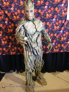 Coolest+Ever+100%+Homemade+Groot+Costume!