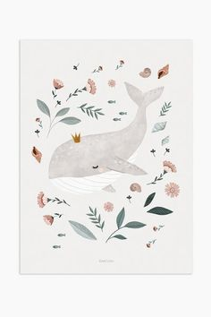 Art Print - baby whale - Art Print – baby whale Best Picture For kids For Your Taste You are looking for something, and - Art And Illustration, Illustration Inspiration, Illustration Mignonne, Art Inspiration Drawing, Cute Animal Illustration, Animal Illustrations, Watercolor Illustration Children, Fashion Illustrations, Whale Drawing