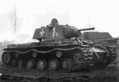During the invasion of the Soviet Union, the German Army captured some heavy tanks. One of the tanks was up-gunned by German mechanics who added a gun from a Panzer IV to the tank.