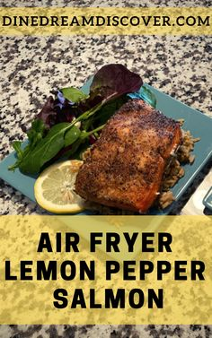 This easy Air Fryer Salmon recipe is frozen to ready in under 15 minutes. Seasoned with lemon pepper, tender and juicy every single time. Jerk Salmon, Lemon Pepper Salmon, Frozen Salmon, Air Fry Recipes, Salmon Seasoning, Fast Easy Meals, Salmon Fillets, Side Salad, Everyday Food