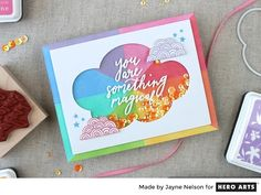 You Are Something Magical shaker card by Jayne Nelson for Hero Arts
