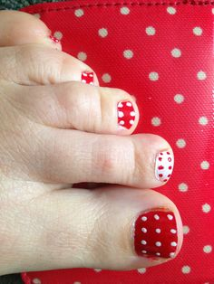 Strawberry design nails! Very cute for summer!