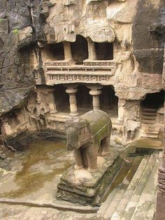 The Ajanta and Ellora Caves are located near Aurangabad in northern Maharashtra, India Indian Temple Architecture, Historical Architecture, Ancient Architecture, Tourist Places, Places To Travel, Places To Visit, Ancient Ruins, Ancient History, Ajanta Ellora